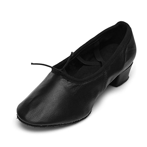 HIPPOSEUS Donna Ballroom Scarpe da ballo /sala da ballo scarpe/Scarpe da ballo latino standard,Modello-IT101 Nero-2