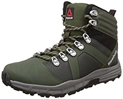 Reebok Mens Outdoor Voyager Mid Grn, Dark Sage, Blk and Grey Leather Nordic Walking Shoes -9 UK/India (43 EU) (10 US)