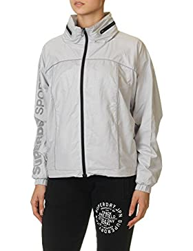 Superdry Women's Gym Running Women's Grey Jacket 100% Polyester
