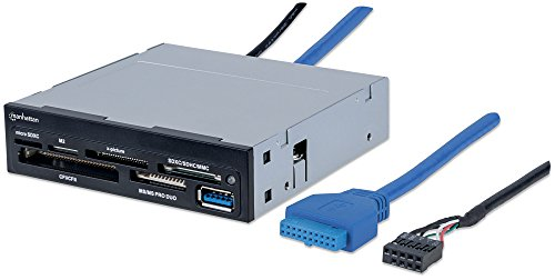Multicard Reader/Writer Manhattan USB 3.0, 3,5-Einbau, 48-in-1