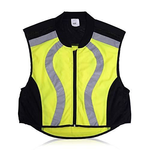 HAIT Reflektierende Fahrradanzug Weste Sicherheitsweste Verkehrsstörung Nachts Reisen Fluoreszierende Kleiderjacke,XXL