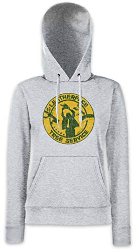 Urban Backwoods Leatherface Tree Service Damen Kapuzenpullover Hoodie XS - 2XL (Texas Massacre Chainsaw Hoodie)