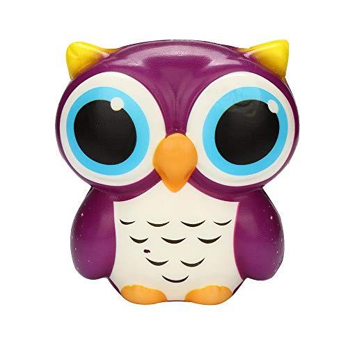 YWLINK Dekompression Spielzeug EntzüCkende Eule Squishy Langsam Steigend Cartoon Puppe Creme ParfüMiert