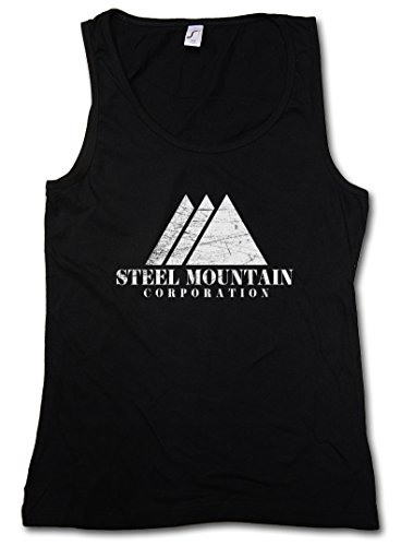 Urban Backwoods Steel Mountain Damen Tank Top Fsociety Allsafe Hacker TV Evil E Corp Mr. Robot T Shirt (Tank Top Mountain-girl)