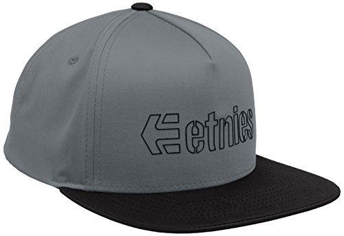 Etnies Corporate 5 Snapback Hat - Casquette De Baseball - Homme Gris - Grey (Grey/Black)