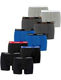 HEAD Hommes Boxer Boxer-shorts Sous-vêtement Pack De 10 En Beaucoup De Couleurs