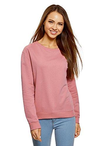 oodji Ultra Damen Baumwoll-Sweatshirt (2er-Pack), Rosa, DE 40 / EU 42 / L
