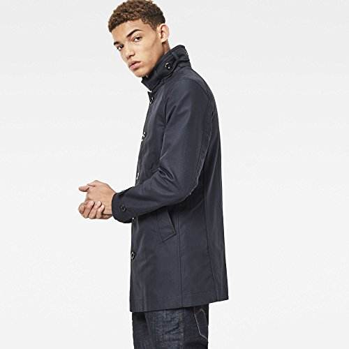 G-STAR RAW Herren Mantel Garber Trench Blau (Mazarine Blue 4213)