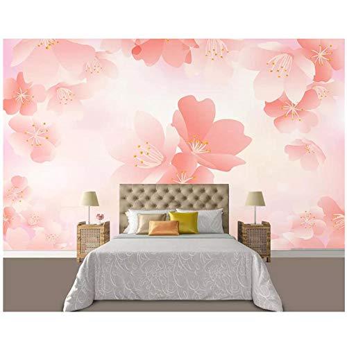 Benutzerdefinierte Tapete-Hauptdekoration-Fantasie Kirsche TV Hintergrund-Wand Wohnzimmer Schlafzimmer Wandbild Tapete-für Wände 3d-400cm (B) x250cm (H) (13'1