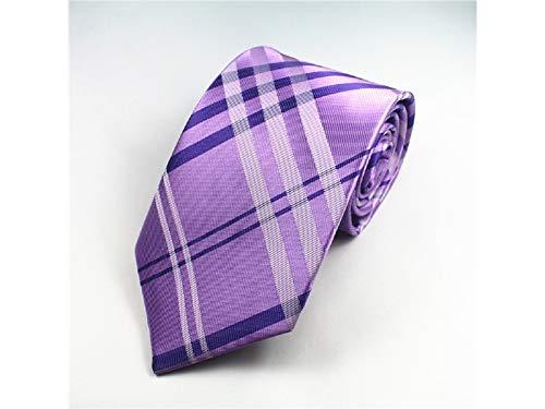 JxucTo Gitter Mode Krawatte für Männer Formale und Casual Gelegenheit (lila)