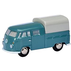 Schuco Dickie 450557000-Piccolo Volkswagen T1Doble Cabina, Color Azul