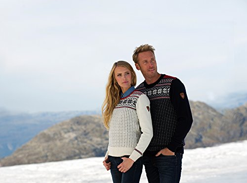 Dale of Norway Damen Pullover Garmisch Feminine Sweater Off White/Navy/Raspberry