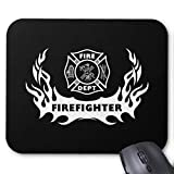 Computer Accessories Anti-Friction Wristband Firefighter Tattoo Mouse Pad 18X22