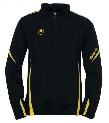 uhlsport 100205205_schwarz/maisgelb_XL - Felpa unisex, XL, colore: Multicolore nero/giallo mais