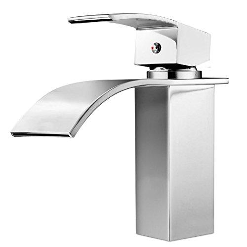 Homdox Design Einhebel Wasserhahn Waschtischarmatur für Badezimmer Waschbecken - 6