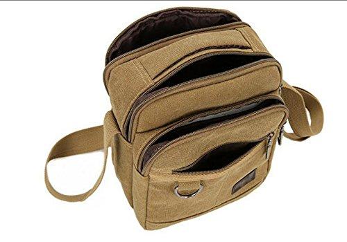 Mann-Segeltuchbeutel-Schulterbeutel-Diagonalpaketfreizeit-Mannbeutel-neutrale Retro- Einfache Spielraumbeutel Black