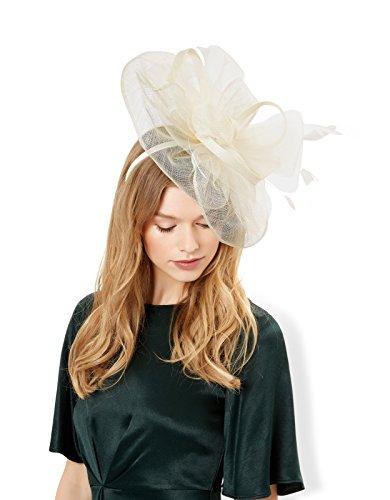 Monsoon Serre-tête orné d'un nœud et d'une plume Kate - Femme Crème