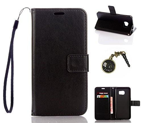 Preisvergleich Produktbild für Smartphone Samsung Galaxy S7 Edge Hülle, Klappetui Flip Cover Tasche Leder [Kartenfächer] Schutzhülle Lederbrieftasche Executive Design +Staubstecker (8DD)