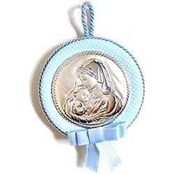 Médaille pour berceau | bébé | Plaque en Argent bilaminé | 2R Argenti