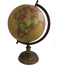 Antiguo Globo terráqueo decoración del hogar mesa geografía océano soporte de metal grande Rotating Globe