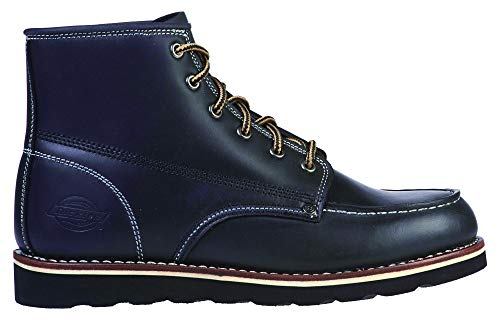 Dickies Shoes New Orleans Moc Toe Boot Black-46 Black Leather Moc Toe