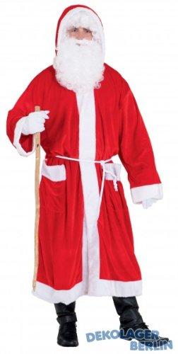 Erwachsene Weihnachtskostüm Für Günstige - PARTY DISCOUNT ® Weihnachtsmannmantel, rot unisize, preiswert