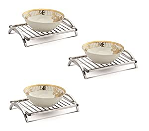 Dazzle Stainless Steel Trivet / Hot Plate Stand(Square)-SI006