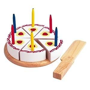 Gâteau d'anniversaire avec des bougies en bois et velcro