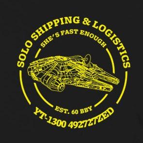 Solo Shipping & Logistics - Stofftasche / Beutel Braun