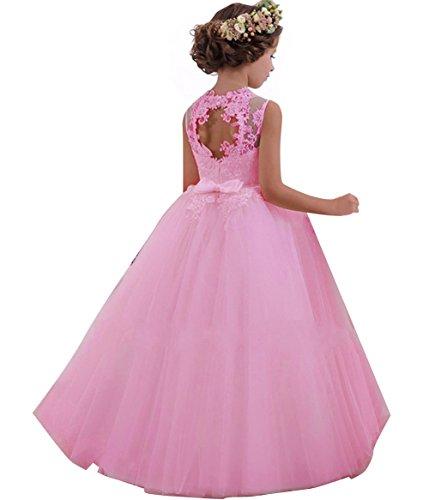 LZH Mädchen Kleider Kleid Tüll Spitze Hochzeit Prinzessin Party Kleider