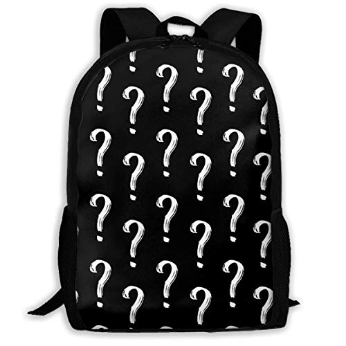TRFashion Rucksack Question Mark Fashion Outdoor Shoulders Bag Durable Travel Camping for Kids Backpacks