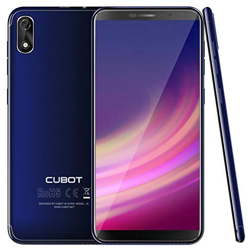 CUBOT J3 Android Go Smartphone Unlocked, 5.0 inch (18:9) Touch Screen, 1GB RAM+16GB ROM,3G Dual SIM, 8MP+5MP Dual Camera, WIFI, GPS, G-sensor,Bluetooth (Blue)