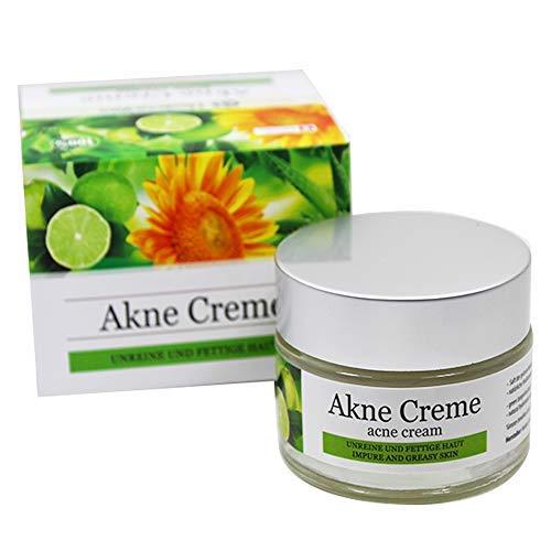 Hedera Vita Akne Creme | für unreine und fettige Haut | bekämpft Akne, Pickel und Mitesser | Swiss Quality, 50ml