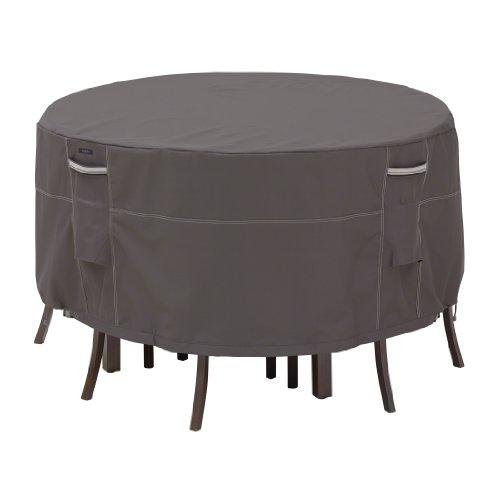"""Classic Accessories, """"Ravenna"""", runde Abdeckung für Terrassen-Tisch und -Stühle, Graubraun (Square Bistro-tisch-set)"""