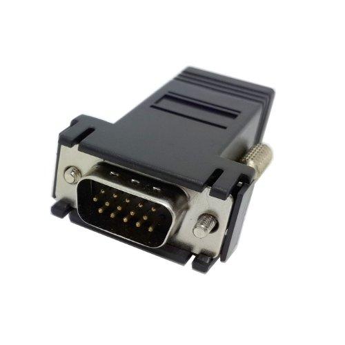 CY db-020-bk Extender VGA RGB 15PIN maschio a LAN Cat5CAT5e RJ45femmina adattatore Ethernet nero