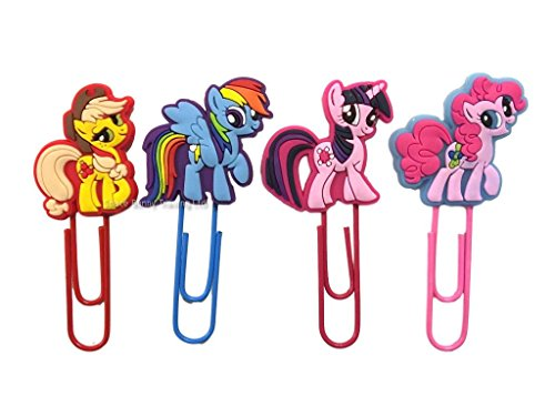 my-little-pony-four-piece-paperclip-bookmark-set-uk-shipped