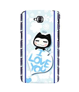 Fuson 3D Printed Love Designer back case cover for LG G Pro Lite - D4445