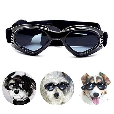 PEDOMUS Hunde Sonnenbrille Verstellbarer Riemen für UV-Sonnenbrillen Wasserdichter Schutz für kleine und mittlere Hunde…