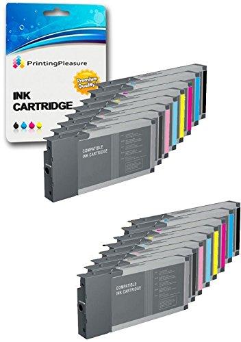16 (2 SETS) Compatible Printer Ink Cartridges for Epson Stylus Pro 4000, 7600, 9600 / T5441, T5442, T5443, T5444, T5445, T5446, T5447, T5448