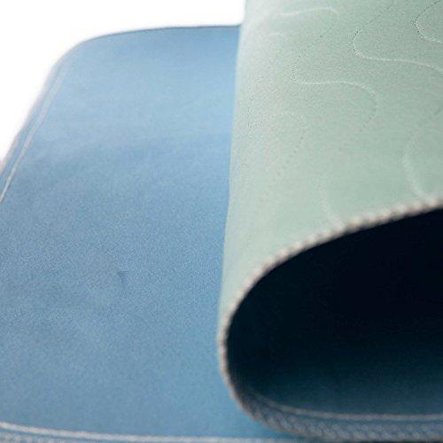 Fiducia Inkontinenzunterlage grün-blau o. blau-weiß ca. 90x70 cm von Castejo waschbar Auflage Krankenunterlage Matratzenschutz (4)