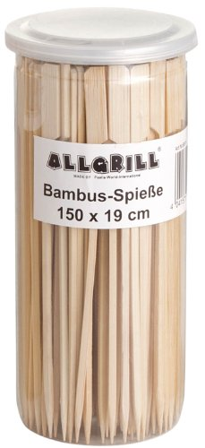 Bambus-Spieße, Fingerfoodspieße, Bambusstick 19 cm lang, Inhalt 150 Stück von Allgrill ®