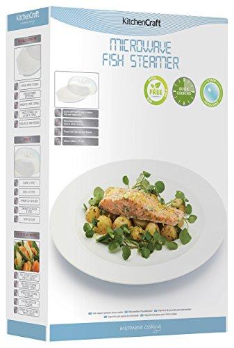 Kitchen Craft KCMFISH - Piatto per cuocere Il Pesce, Adatto per microonde