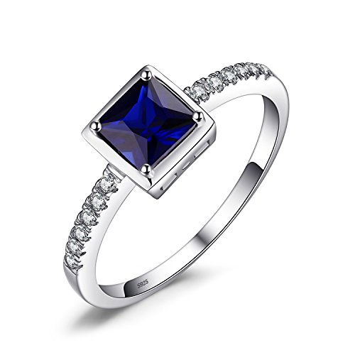 Jewelrypalace Quadratische Prinzessin Damen Ringe 925 Sterling Silber Luxus Geschenk