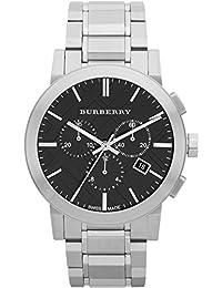 Burberry Reloj cronógrafo de hombre (Acero Inoxidable Cepillado), color negro