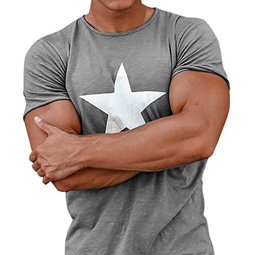 Xmiral T Shirt Uomo Vintage-T Shirt Donna Divertenti-Camicetta Maglietta-Maglietta Mates-Maglietta Uomo-Manica Corta-Sport Tee-Maglia Maglietta-Maglietta A-Uomo Sportswear XS Grigio