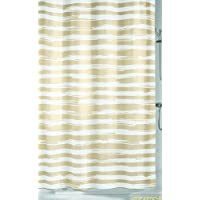 Kleine Wolke Stripy Cortina de Ducha, Peva, Sand Beige, 180 x 200 x 0.2 cm