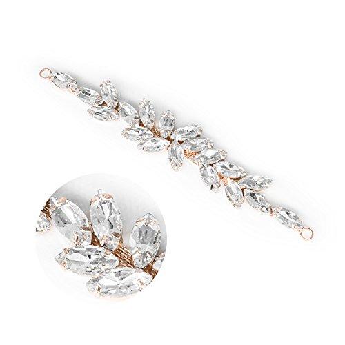 Strass-Applikation Diamant Kristall Nähen auf Motiv Hochzeit Kleid Schmuck Patch B127Gold (Und Formalen Kleidern Weißen Schwarzen)