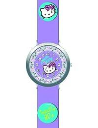 Hello Kitty–4402106–Mädchen Armbanduhr Analog–Zifferblatt Violett Armband Leder violett