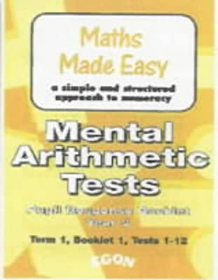 Mental Arithmetic: Work Sheets Year 3 (Maths Made Easy) from Egon Publishers Ltd