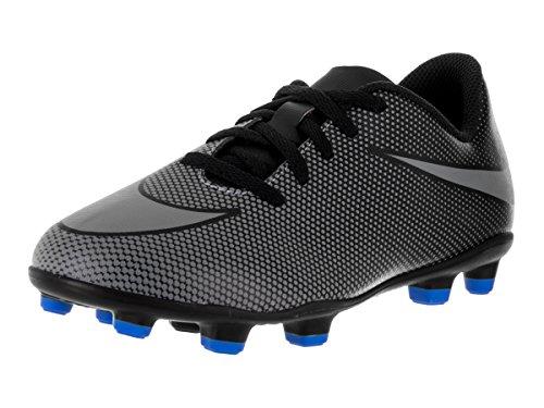 Nike Jr Bravata Ii Fg, Scarpe da Calcio Unisex – Adulto Black (nero / freddo grigio-blu foto)
